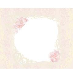 floral frame invitation card vector image vector image