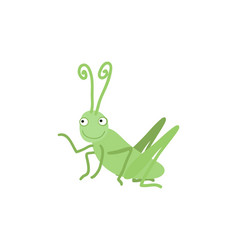 funny grasshopper cartoon vector image