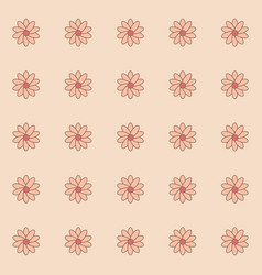 pattern of flower vector image vector image