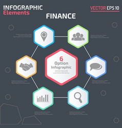 6 option infographic design template vector image