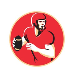 American quarterback football player passing vector