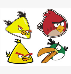 Angry birds set vector