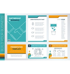 Annual report book cover and presentation template vector