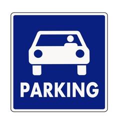 Autocar parking sign vector