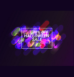 autumn super sale sale for halloween vector image