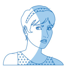 Beautiful woman in the comics style vector