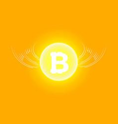 bitcoin cripto currency blockchain bitcoin flat vector image