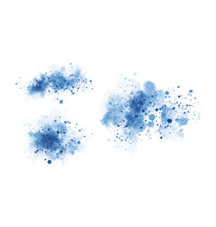 blue watercolor on white background vector image