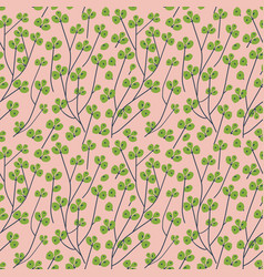 branch with green berries seamless pattern vector image
