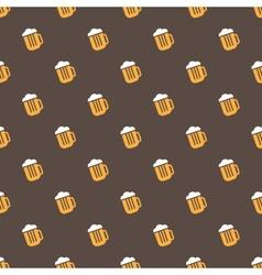 bright beer mug seamless pattern vector image