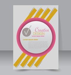 Brochure design Flyer template Editable A4 poster vector image