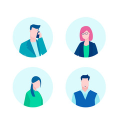business profiles - flat design style vector image