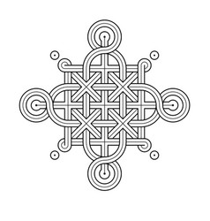 celtic knot - single chain - rings vector image
