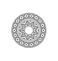 Circular pattern in form mandala vector