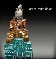 City Buildings Dollar vector image