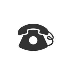 classic phone icon graphic design template vector image