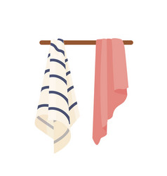 Clean towels dry soft towels vector