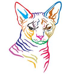 Colorful decorative portrait cat 3 vector
