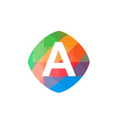 colorful initial a icon vector image