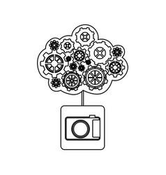 Concept maintenance service analog camera vector