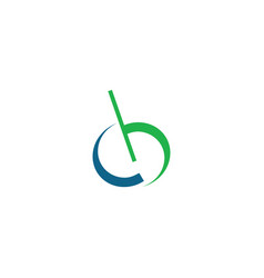 creative abstract letter cb logo design vector image