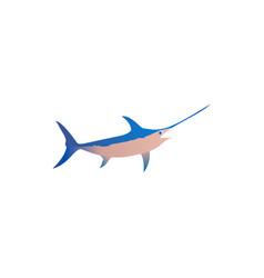 Cute fish icons set fish flat vector