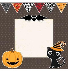 Cute Halloween party card vector