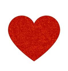 Dark red heart vector
