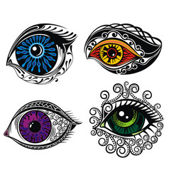 decorative eyes vector image