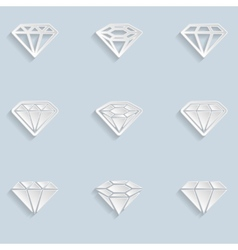 Diamond Paper Icons vector image