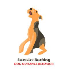 Dog behavior problems terrier vector