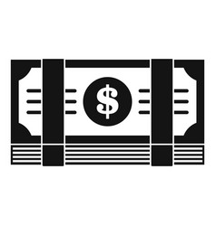 dollar pack icon simple style vector image