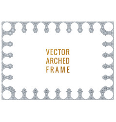 Eastern vintage arch card arabic ornament floral vector