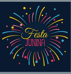 Festa junina celebration card design vector