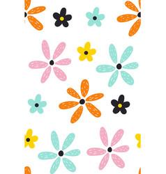 floral summer pattern scandinavian texture vector image