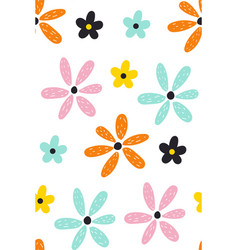 floral summer pattern scandinavian texture with vector image