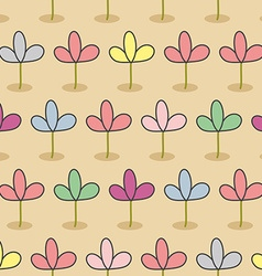 Flowers on a bed Garden Seamless floral pattern vector