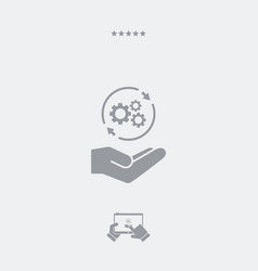 Full assistance - minimal modern icon vector