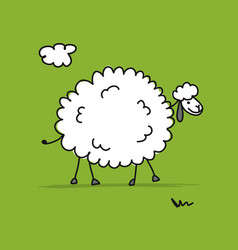 funny sheep sketch for your design vector image