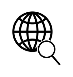global search icon vector image