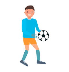 goalkeeper ball out icon flat style vector image