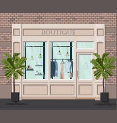 Graphic facade vintage boutique detailed vector