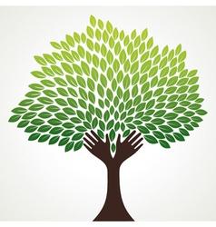 green hand stock vector image