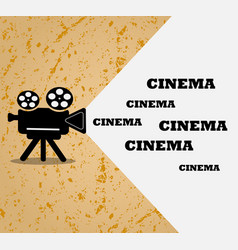 grungeretro movie projector banner template vector image