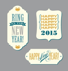 Happy New Year vintage typography designs vector image