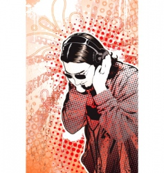 headphones guy vector image