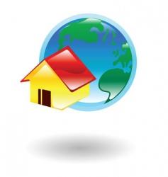 home illustration vector image