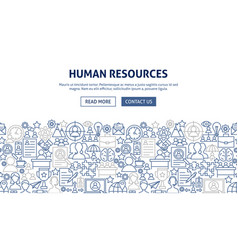 human resources banner design vector image
