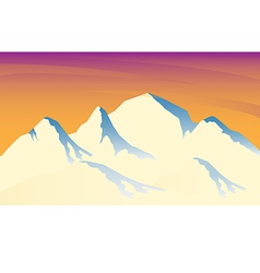 ice mountain sunshine vector image