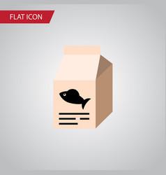 Isolated feeding box flat icon fish nutrient vector